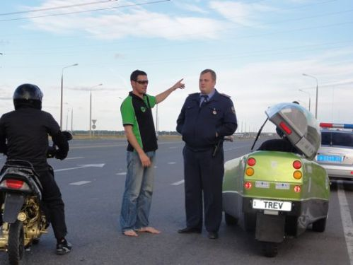 Dickson's laid back approach to Russian policemen