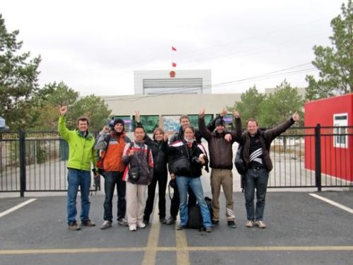 Zero Race participants at the Chinese border